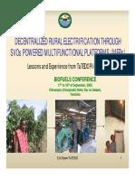 Multi Functional Platforms in Tanzania by Tatedo