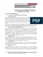 ESPECIFICACIONES TECNICAS TROCHA CARROZABLE
