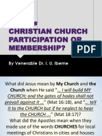 What is Christian Church Participation or Membership?