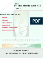 Crux of the Hindu and Pib Vol 12