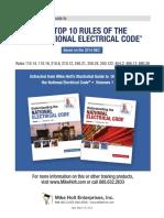 Top 10 Rules 2014 NEC