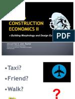 Building Morphology - Construction Economics