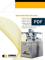 Double Sided Rotary Tableting Machine cGMP