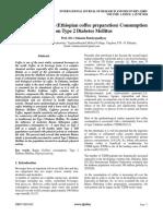 Impact of Bunna (Ethiopian coffee preparation) Consumption on Type 2 Diabetes Mellitus