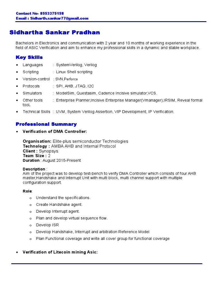 Resume | Telecommunications | Computing