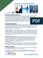 Brochure-scientific Computing Certificate