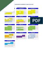 Calendario Grado 2016-2017