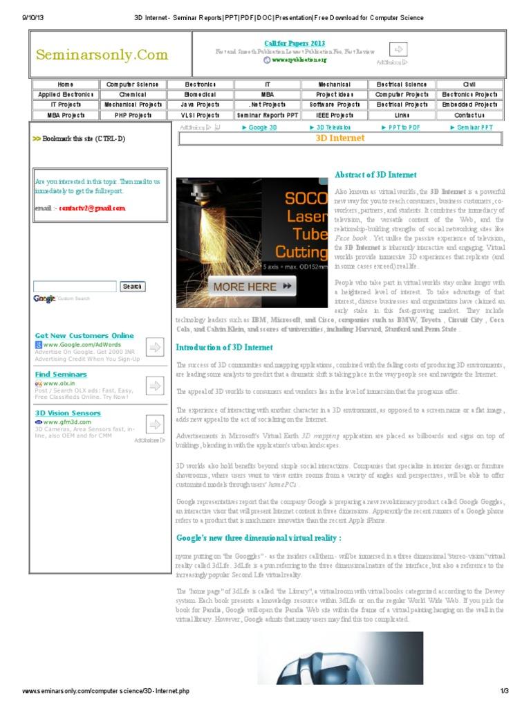 166949372-3D-Internet-Seminar-Reports-PPT-PDF-DOC