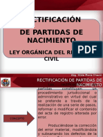 Rectificación de partidas de nacimiento (VENEZUELA)