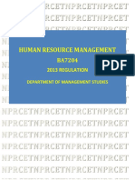 Human Resource Management Lt p c3 0 0 3