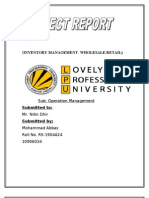 Term Paper on inventory management w.r.t. retail industry