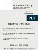 Consumer Preference Study_Milk Beverages vs. Carbonated Beverages