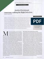Fixed Prosthodontics Provisional Materials