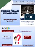 Pruebas Penales Unilaterales. Roberto Delgado