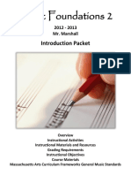 Music Foundations 2 Introduction Packet (2012-2013)