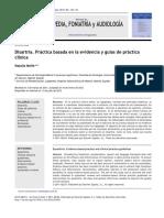 Disartria. Práctica Basada en La Evidencia y Guías de Práctica Clínica