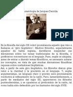 De La Gramatología de Jacques Derrida.
