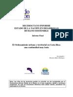 Estado de La Nación Ordenamiento Territorial