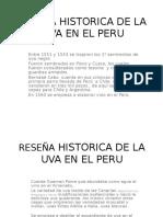 Reseña Historica de La Uva en El Peru