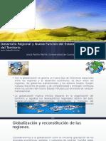 Desarrollo regional y la nueva función del estado en el teritorio.