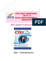 Disha Publication CTET Paper Child Development Pedagogy Past Questions