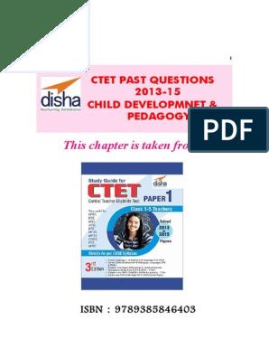 Disha Publication CTET Paper Child Development Pedagogy Past