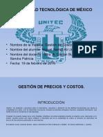 Gestión de precios y costos