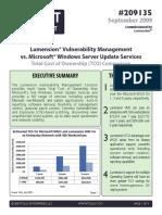 Lumension VMS vs Microsoft WSUS