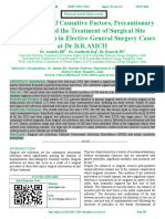 Clinical Study of Causative Factors, Precautionary Measures and the Treatment of Surgical Site Infections (SSIs) in Elective General Surgery Cases at Dr B.R.AMCH