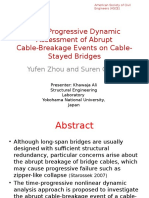 Time-Progressive Dynamic Assessment of Abrupt Cable Breakage Events on Cable Stayed Bridges