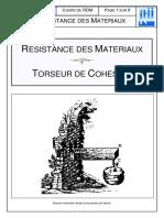 RDM Torseur de cohésion