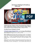 Prediksi Bola Semen Padang vs Persib 25 Juli 2016