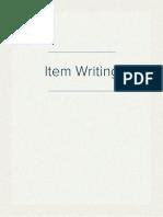 Item Writing