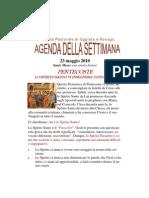 Agenda Pentecoste NUOVO FORMATO