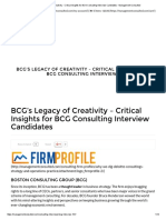 BCG's Legacy of Creativity - Critical Insights for BCG Consulting Interview Candidates - Management Consulted