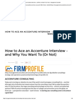 How to Ace an Accenture Interview - And Why You Want to (or Not) - Management Consulted