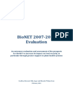 BioNET Global Programme Evaluation Report 2007 2010