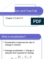 Acceleration and Freefall