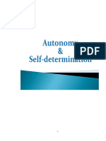 Autonomy & Self-determination