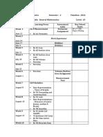 10GM Timeline Semester 2 2016
