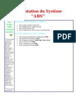 Présentation Du Système ABS