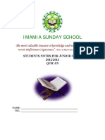 Quran Class by Immamia Sunday School