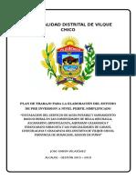 1.- Plan de Trabajo Pip Saneamiento Tiqui Tiqui