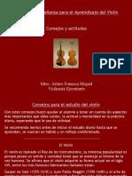 Consejos y actitudes para el estudio del violín 2014