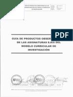 PP-G-02.01 GUÍA DE PRODUCTOS OBSERVABLES DE LAS ASIGNATURAS EJES DEL MODELO CURRICULAR DE INVESTIGACIÓN V02.pdf