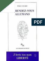 Au Rendez-Vous Allemand - Eluard, Paul