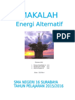 Contoh tugas Fisika Energi Alternatif