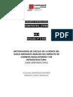 WPCC 162535 SanhuezaLópez MetodologíaCálculoRentaSueloMedianteAnálisisImpactoCambiosRegulatoriosInfraestructura