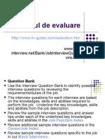 Interviul de Evaluare
