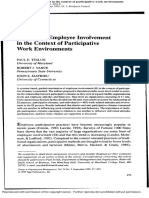 Examining Employee Involvment